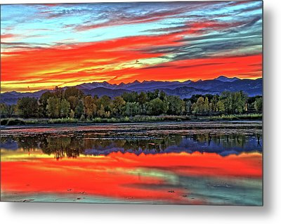 Metal Print featuring the photograph Sunset Ponds by Scott Mahon
