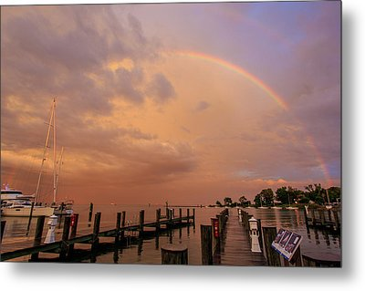 Metal Print featuring the photograph Sunset Rainbow by Jennifer Casey