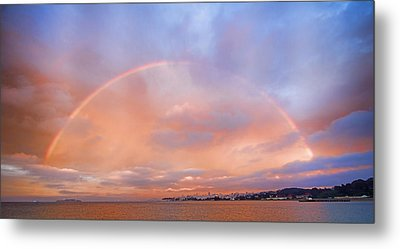 Metal Print featuring the photograph Sunset Rainbow by Steve Siri
