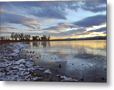 Sunset Refections Metal Print by James Steele