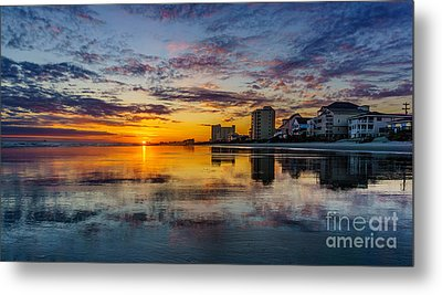 Sunset Reflection Metal Print by David Smith