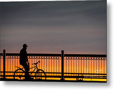Sunset Reflection Metal Print by Mike Ste Marie