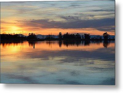 Sunset Reflections Metal Print