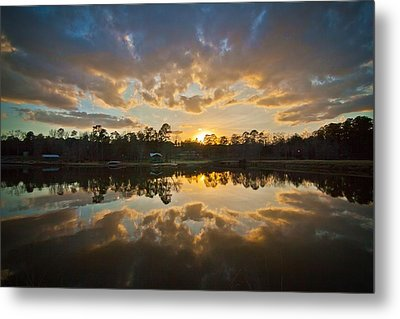 Sunset Reflections Metal Print by Linda Unger