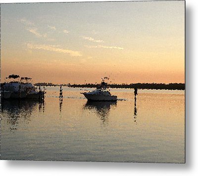 Sunset Reflections Metal Print by Rose  Hill