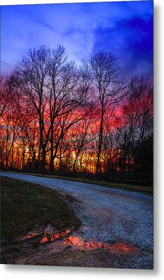 Sunset Road Metal Print by Alexey Stiop