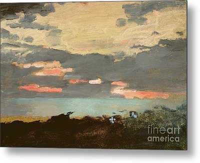 Sunset, Saco Bay Metal Print by Winslow Homer