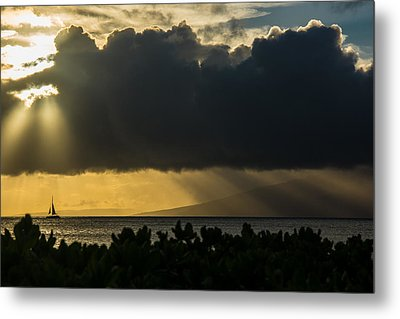 Metal Print featuring the photograph Sunset Sail by Colleen Coccia