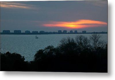 Sunset Sail On Sarasota Bay Metal Print