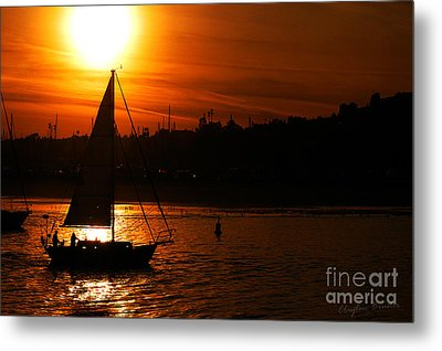 Sunset Sailing Metal Print by Clayton Bruster