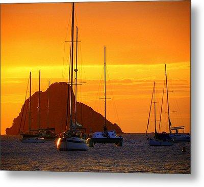 Sunset Sails Metal Print by Karen Wiles