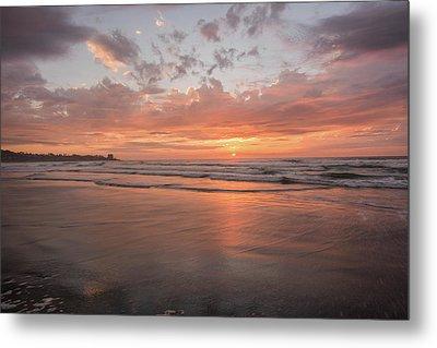 Sunset Scripps Beach Pier Img 5 La Jolla San Diego Ca Metal Print by Bruce Pritchett