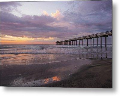 Sunset  Scripps Beach Pier La Jolla Ca Img 1 Metal Print by Bruce Pritchett