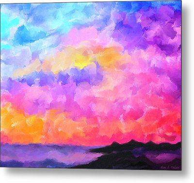 Metal Print featuring the mixed media Sunset Serenade Memories by Mark Tisdale