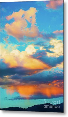 Sunset Showers Metal Print