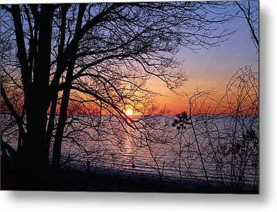 Sunset Silhouette 2 Metal Print by Peter Chilelli