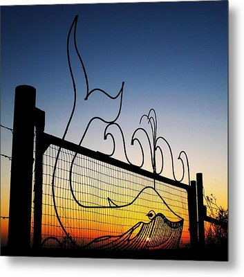 Metal Print featuring the photograph Sunset Spouting Whale by John King