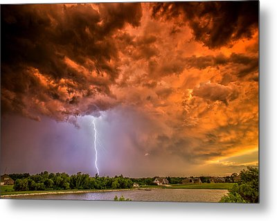Metal Print featuring the photograph Sunset Strike by James Menzies