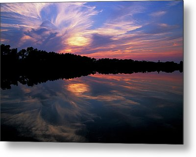 Metal Print featuring the photograph Sunset Swirl by Steve Stuller