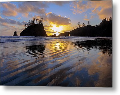 Metal Print featuring the photograph Sunset Symphony by Mike Lang