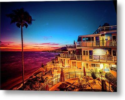 Sunset Twilight At The Laguna Riviera Metal Print