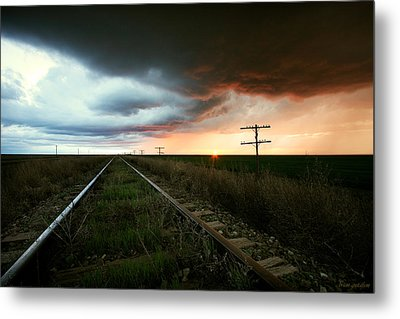 End Of A Stormy Day Metal Print by Brian Gustafson