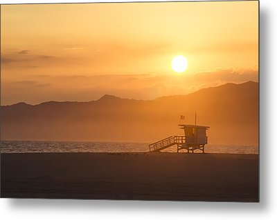 Sunset Venice Beach  Metal Print