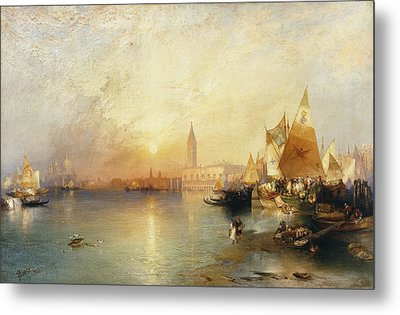 Sunset Venice Metal Print by Thomas Moran