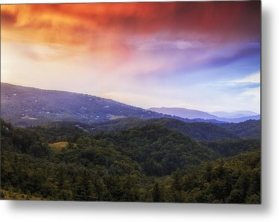 Sunset View Of The Blue Ridge Metal Print by Andrew Soundarajan