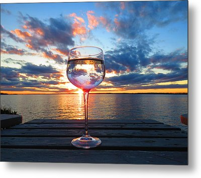 June Sunset On The River Metal Print