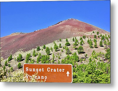 Sunset Crater Volcano Metal Print