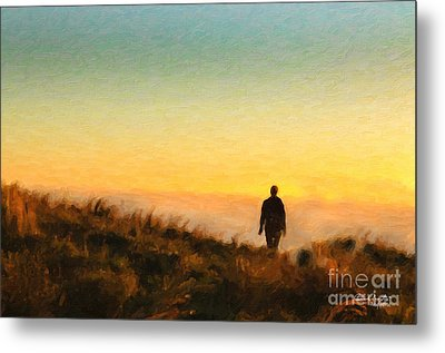 Sunset Walk Metal Print by Chris Armytage