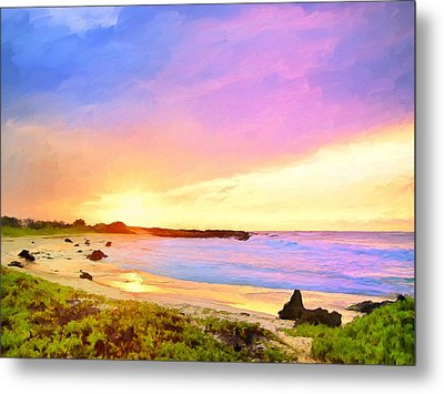 Sunset Walk Metal Print by Dominic Piperata