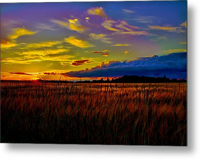 Metal Print featuring the photograph Sunset Wheat by Gary Smith