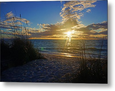 Sunset Windsurfer Metal Print by Robb Stan