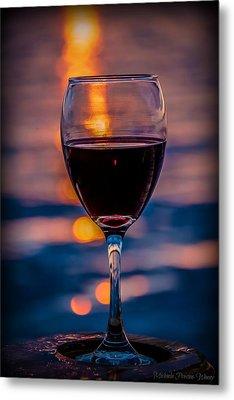 Sunset Wine Metal Print