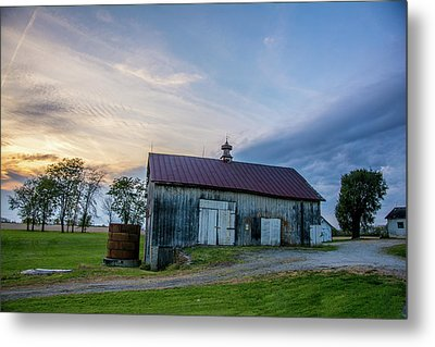 Sunset Years Barn Metal Print