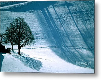 Metal Print featuring the photograph Sunshine And Shadows - Winterwonderland by Susanne Van Hulst