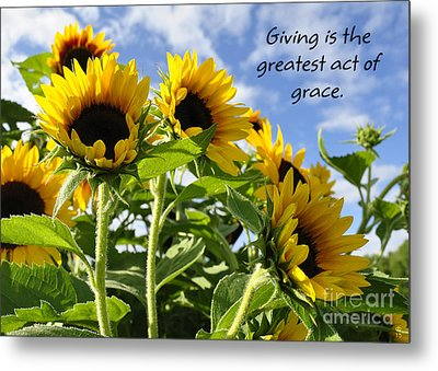 Metal Print featuring the photograph Sunshine Lollipops Grace by Diane E Berry