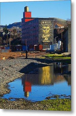 Sunshine Mill Reflection Metal Print