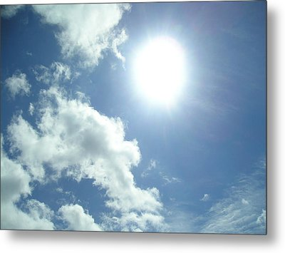 Sunshine On A Cloudy Day Metal Print by Allison Prior