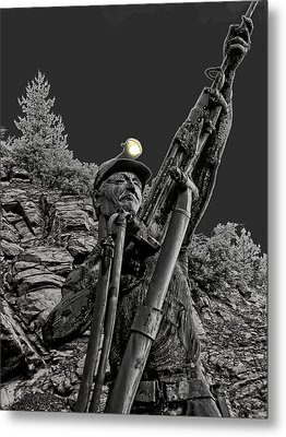 Sunshine Silver Mine Memorial - Kellogg Idaho Metal Print by Daniel Hagerman