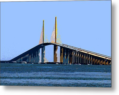 Sunshine Skyway Summer Metal Print by David Lee Thompson