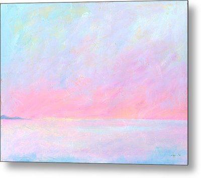 Metal Print featuring the painting Sunup Over Kailua by Angela Treat Lyon