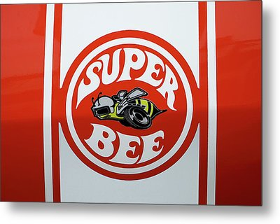 Metal Print featuring the photograph Super Bee Emblem by Mike McGlothlen