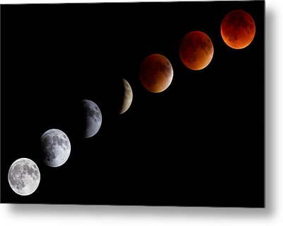 Super Blood Moon Eclipse Metal Print
