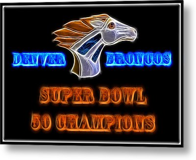 Metal Print featuring the photograph Super Bowl 50 Champions by Shane Bechler