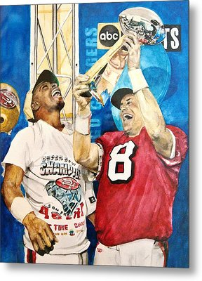 Super Bowl Legends Metal Print by Lance Gebhardt
