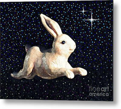 Super Bunny Metal Print