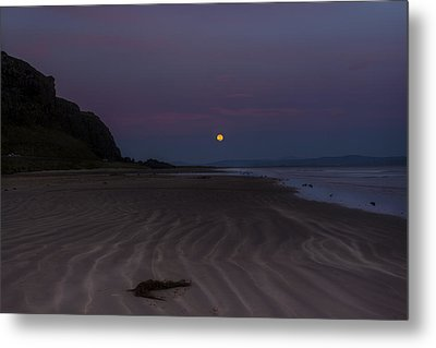 Super Moon At Downhill Beach Metal Print